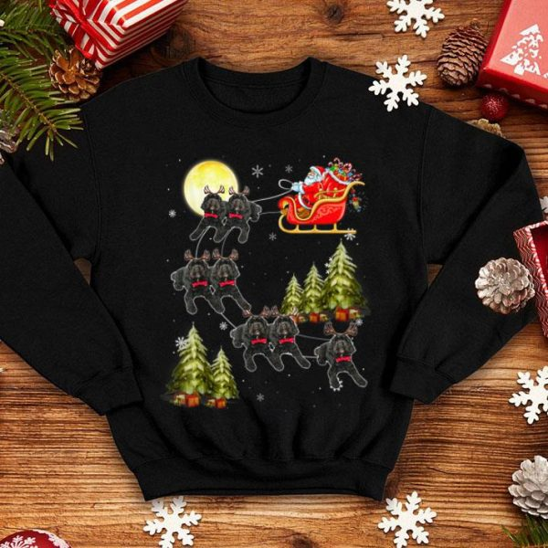 Beautiful Cockapoo Reindeer Christmas Dog Riding Santa Xmas Gift shirt