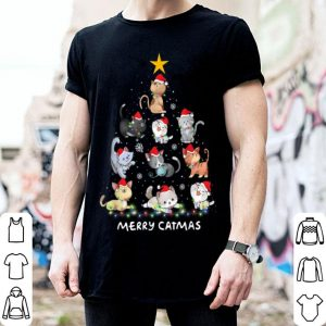 Beautiful Cute Cat Christmas Tree Merry Catmas Decor Gift sweater