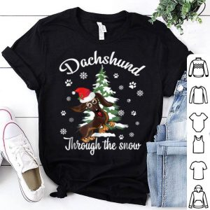 Beautiful Dachshund Through The Snow Christmas Gift Dog Lovers shirt