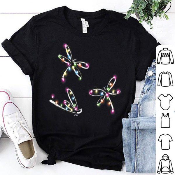 Beautiful Dragonfly Christmas Lights Funny Dragonfly Xmas Tree shirt