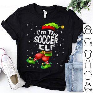 Beautiful I'm The Soccer Elf Matching Family Group Christmas shirt