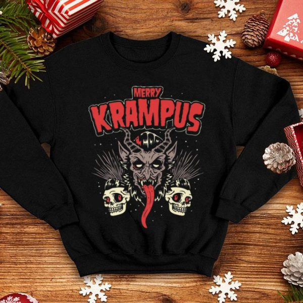 Beautiful Merry Krampus Christmas Psychobilly Horror (HR) shirt