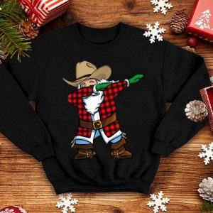 Beautiful Santa Cowboy Christmas Dabbing sweater