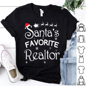 Beautiful Santa's Favorite Realtor Xmas Funny Claus Christmas Gift shirt