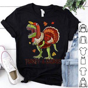 Beautiful Turkey A Saurus T-Rex Thanksgiving shirt