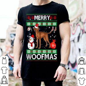 Beautiful Vizsla Dog Merry Woofmas Christmas Costume shirt