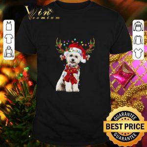 Cool Bichon Frise Reindeer Christmas shirt