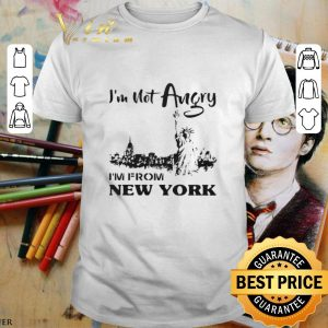Cool I'm not angry i'm from New York Liberty Enlightening The World shirt