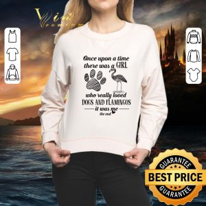 Cool Once upon a time there was a girl who really loved dogs flamingos shirt