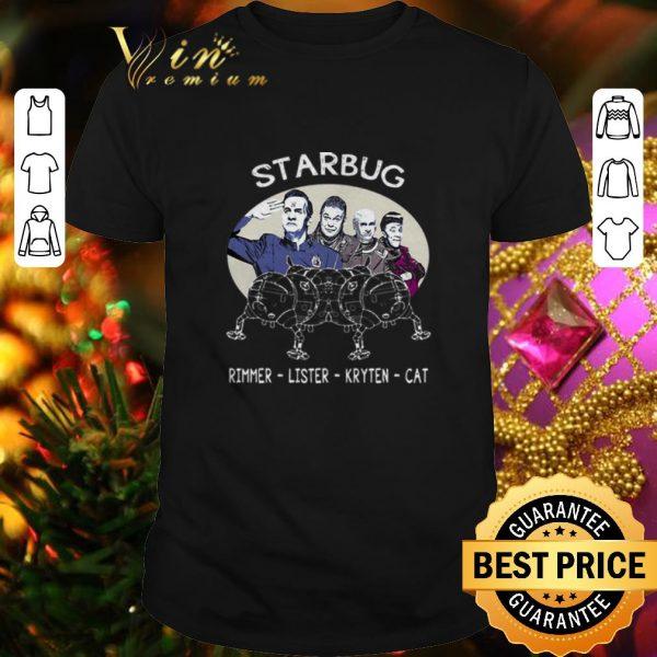Cool Starbug Red Dwarf Arnold Rimmer Lister Kryten Cat shirt