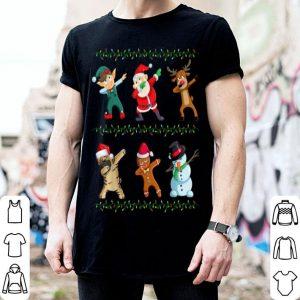 Hot Funny Dabbing Santa Shar Pei And Friends Christmas shirt