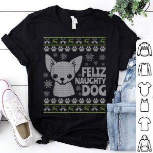 Hot Mens Mens Ugly Christmas Chihuahua Dog shirt