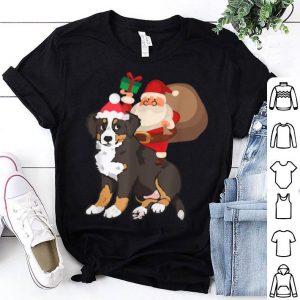 Hot Santa Riding Bernese Mountain Dog Christmas Pajama Gift shirt