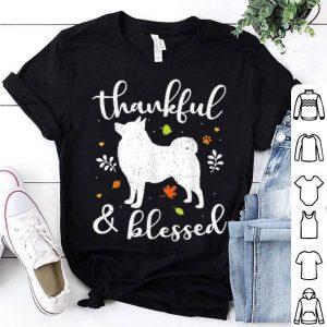 Hot Schipperke Thanksgiving Dog Thankful Blessed Mom Gift shirt