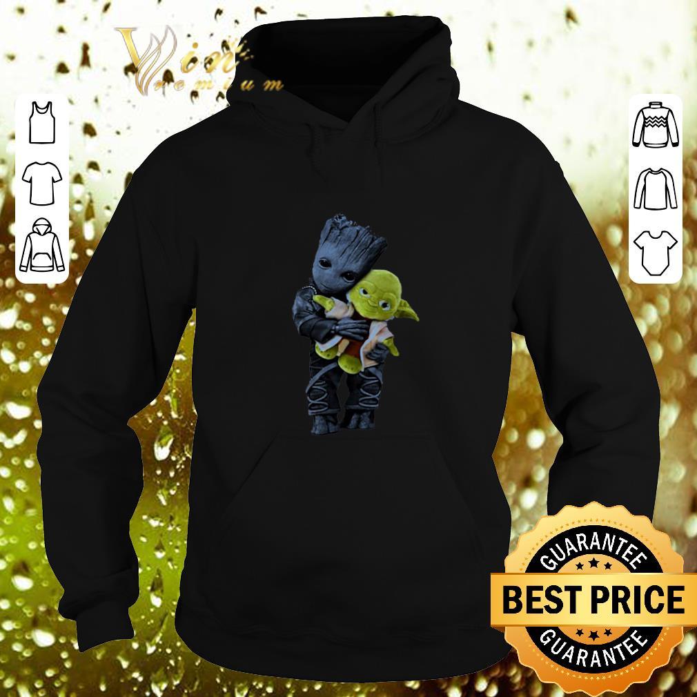 Nice Baby Groot Hugging Yoda Star Wars shirt 4 - Nice Baby Groot Hugging Yoda Star Wars shirt