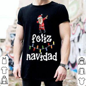 Nice Feliz Navidad Christmas Dabbing Santa Spanish Gift shirt