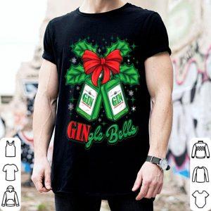 Nice Funny Christmas Gift Xmas Gin Gingle Jingle Bells Family shirt