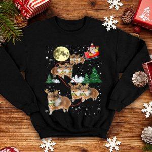 Nice Funny Sheltie Christmas Xmas Pajama Gift Tee shirt