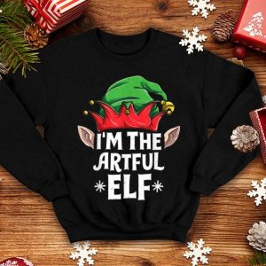 Nice I'm The Artful Elf Funny Christmas Family Matching Pajamas sweater