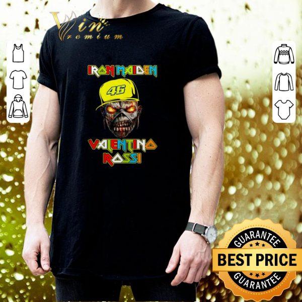 Nice Iron Maiden Valentino Rossi shirt