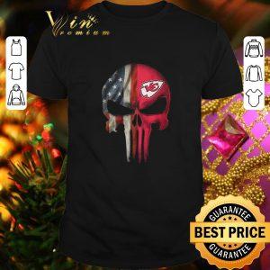 Nice Kansas City Chiefs American Flag Punisher Skull shirt