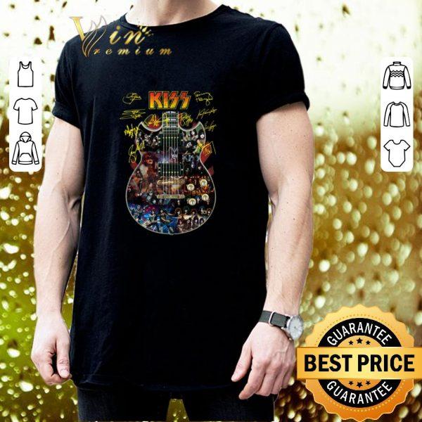 Nice Kiss signatures guitarist shirt
