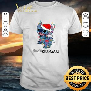 Nice Stitch santa Merry Kissmyass Christmas shirt