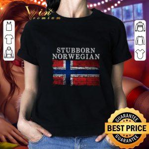 Nice Stubborn Norwegian Flag of Norway shirt
