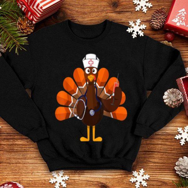 Nice Thanksgiving Nurse Turkey Family Gift Men Women Funny shirt