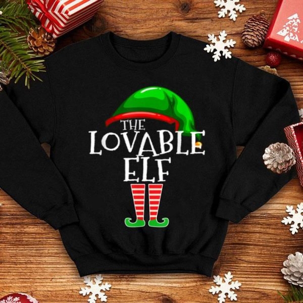 Nice The Lovable Elf Group Matching Family Christmas Gift Outfit shirt