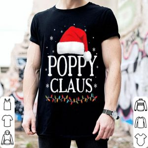 Official Mens Poppy Claus Christmas Family Matching Pajama Santa Hat shirt