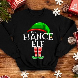 Official The Fiance Elf Group Matching Family Christmas Gifts Engaged shirt