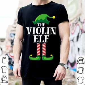 Official Violin Elf Matching Family Group Christmas Party Pajama shirt