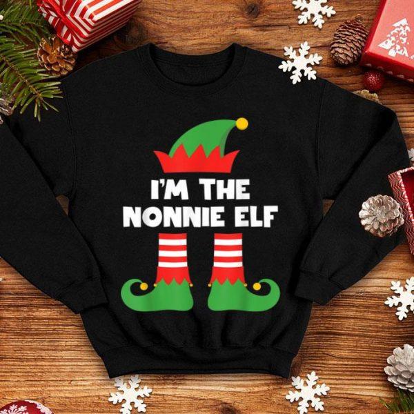 Original I'm The Nonnie Elf Funny Matching Family Group Christmas shirt