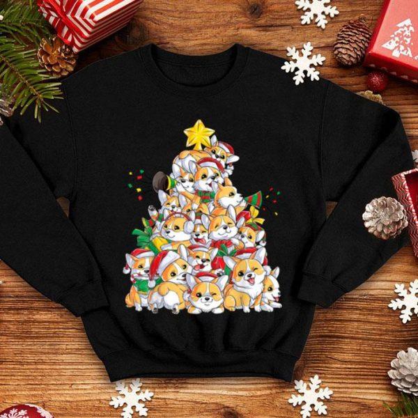 Premium Corgi Christmas Tree Dog Santa Merry Corgmas Xmas Gifts Boys shirt