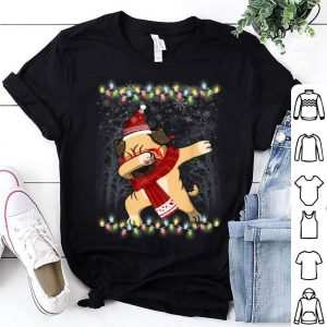 Premium Funny Dabbing Pug Santa Hat Christmas Gift shirt