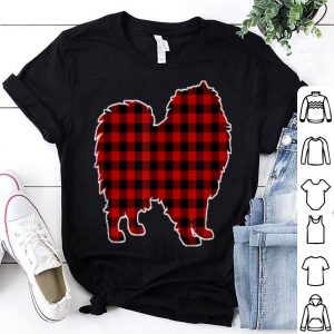 Premium Keeshond Christmas Dog Buffalo Plaid shirt