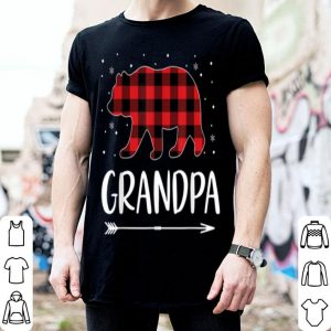 Premium Mens Red Plaid Grandpa Bear Gift Christmas Matching Family Pajama shirt