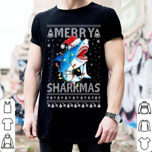 Premium Merry Sharkmas Shark Santa Ugly Christmas shirt