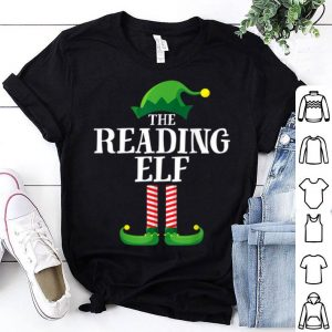 Premium Reading Elf Matching Family Group Christmas Party Pajama shirt