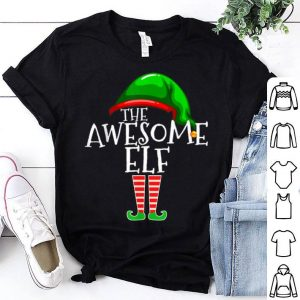 Pretty Awesome Elf Group Matching Family Christmas Gift Holiday sweater