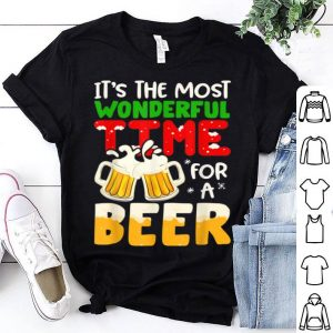 Pretty It's The Most Wonderful Time For A Beer Funny Christmas Gift shirt