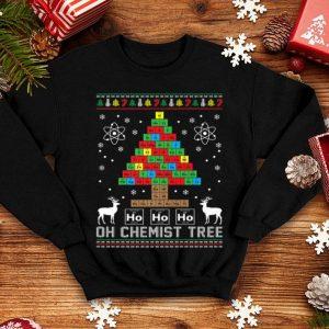 Pretty Oh Chemist Tree Merry Christmas Chemistree Chemistry shirt