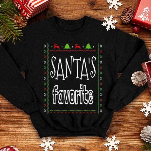 Pretty Santa's Favorite Pajama Xmas Nerd Funny sweater