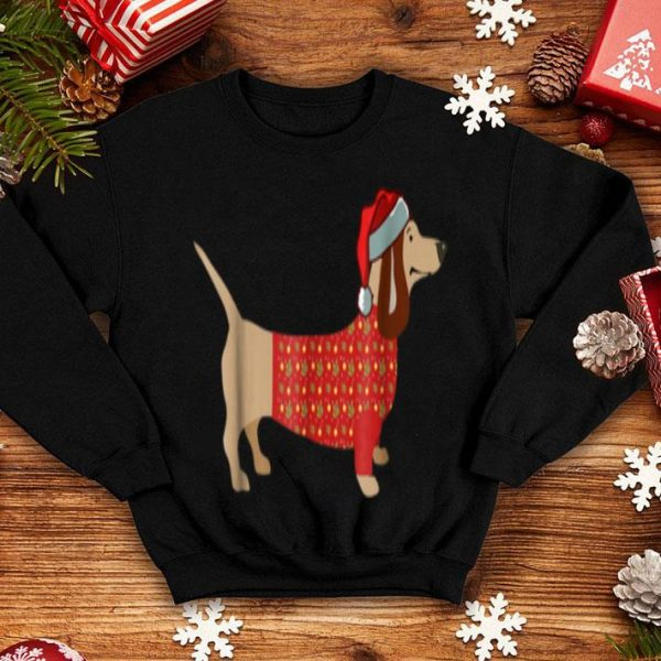 Top Christmas Weiner Daschund Doxie in Dog Dress sweater