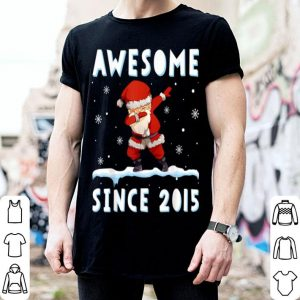 Top Dabbing Santa Claus Awesome Since 2015 4 years Xmas Gift shirt