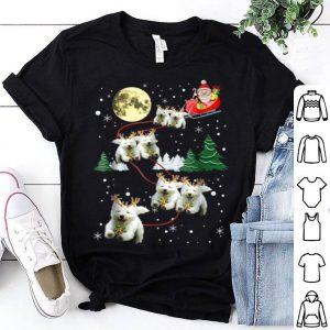 Top Funny Westie Christmas Xmas Pajama Gift Tee shirt
