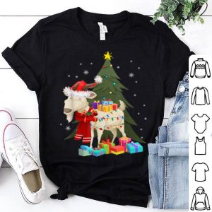 Top Goat Christmas Lights Funny Goat Pajamas shirt