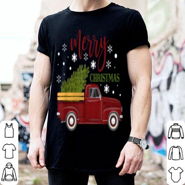 Top Little Red Christmas Truck Vintage Tree Farm shirt
