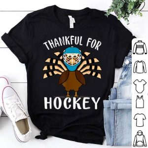 Top Thankful For Hockey Funny Turkey Thanksgiving shirt